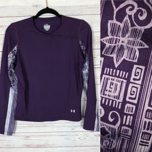 Under Armour Purple  Compression Shirt Size M